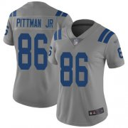 Wholesale Cheap Nike Colts #86 Michael Pittman Jr. Gray Women's Stitched NFL Limited Inverted Legend Jersey