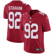 Wholesale Cheap Nike Giants #92 Michael Strahan Red Alternate Men's Stitched NFL Vapor Untouchable Limited Jersey