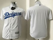 Wholesale Cheap Dodgers Blank White Cool Base Stitched Youth MLB Jersey