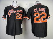 Wholesale Cheap Mitchell And Ness Giants #22 Will Clark Black Stitched MLB Throwback Jersey