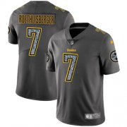 Wholesale Cheap Nike Steelers #7 Ben Roethlisberger Gray Static Youth Stitched NFL Vapor Untouchable Limited Jersey