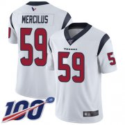 Wholesale Cheap Nike Texans #59 Whitney Mercilus White Men's Stitched NFL 100th Season Vapor Limited Jersey