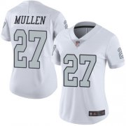 Wholesale Cheap Nike Raiders #27 Trayvon Mullen White Women's Stitched NFL Limited Rush Jersey