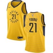 Wholesale Cheap Nike Pacers #21 Thaddeus Young Gold NBA Swingman Statement Edition Jersey
