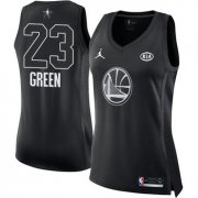 Wholesale Cheap Nike Golden State Warriors #23 Draymond Green Black Women's NBA Jordan Swingman 2018 All-Star Game Jersey