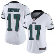 Wholesale Cheap Nike Eagles #17 Alshon Jeffery White Women's Stitched NFL Vapor Untouchable Limited Jersey