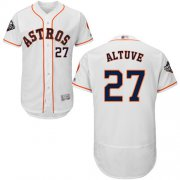 Wholesale Cheap Astros #27 Jose Altuve White Flexbase Authentic Collection 2019 World Series Bound Stitched MLB Jersey