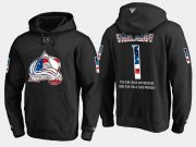 Wholesale Cheap Avalanche #1 Semyon Varlamov NHL Banner Wave Usa Flag Black Hoodie