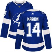 Cheap Adidas Lightning #14 Pat Maroon Blue Home Authentic Women's Stitched NHL Jersey