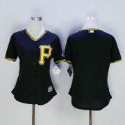 Wholesale Cheap Pirates Blank Black Women's Fashion Stitched MLB Jersey