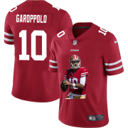 Wholesale Cheap San Francisco 49ers #10 Jimmy Garoppolo Men's Nike Player Signature Moves Vapor Limited NFL Jersey Red