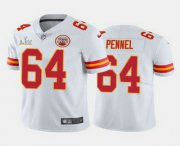 Wholesale Cheap Men's Kansas City Chiefs #64 Mike Pennel White 2021 Super Bowl LV Limited Stitched NFL Jersey