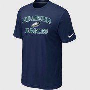 Wholesale Cheap Nike NFL Philadelphia Eagles Heart & Soul NFL T-Shirt Midnight Blue
