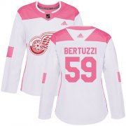 Wholesale Cheap Adidas Red Wings #59 Tyler Bertuzzi White/Pink Authentic Fashion Women's Stitched NHL Jersey