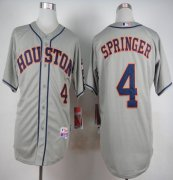 Wholesale Cheap Astros #4 George Springer Grey Cool Base Stitched MLB Jersey