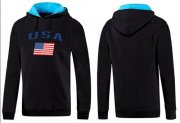 Wholesale Cheap Olympic Team USA Pullover Hoodie Black & Blue