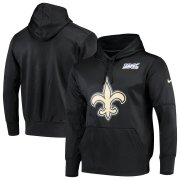 Wholesale Cheap New Orleans Saints Nike 100th Season Primary Logo Circuit Performance Pullover Hoodie Black
