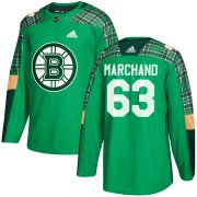 Wholesale Cheap Adidas Bruins #63 Brad Marchand adidas Green St. Patrick's Day Authentic Practice Stitched NHL Jersey