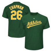 Wholesale Cheap Oakland Athletics #26 Matt Chapman Majestic Official Name and Number T-Shirt Green