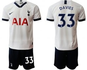 Wholesale Cheap Tottenham Hotspur #33 Davies White Home Soccer Club Jersey
