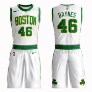 Wholesale Cheap Boston Celtics #46 Aron Baynes White Nike NBA Men's City Edition Suit Authentic Jersey