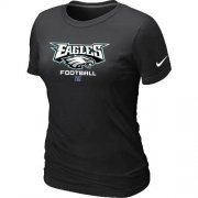Wholesale Cheap Women's Nike Philadelphia Eagles Critical Victory NFL T-Shirt Black