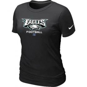 Wholesale Cheap Women\'s Nike Philadelphia Eagles Critical Victory NFL T-Shirt Black