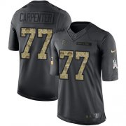 Wholesale Cheap Nike Falcons #77 James Carpenter Black Men's Stitched NFL Limited 2016 Salute To Service Jersey