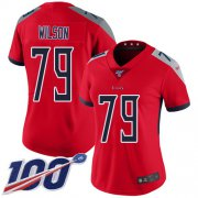 Wholesale Cheap Nike Titans #79 Isaiah Wilson Red Women's Stitched NFL Limited Inverted Legend 100th Season Jersey