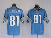 Wholesale Cheap Lions #81 Calvin Johnson Blue Stitched NFL Jersey