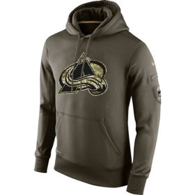 Wholesale Cheap Men\'s Colorado Avalanche Nike Salute To Service NHL Hoodie