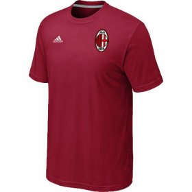 Wholesale Cheap Adidas AC Milan Soccer T-Shirt Red