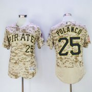 Wholesale Pirates #25 Gregory Polanco Camo Flexbase Authentic Collection Stitched Baseball Jersey