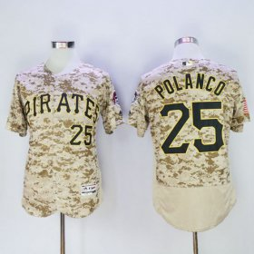 Wholesale Cheap Pirates #25 Gregory Polanco Camo Flexbase Authentic Collection Stitched MLB Jersey