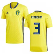 Wholesale Cheap Sweden #3 Lindelof Home Kid Soccer Country Jersey