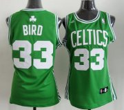 Wholesale Cheap Boston Celtics #33 Larry Bird Green Womens Jersey