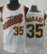 Wholesale Cheap Seattle Supersonics #35 Kevin Durant 1995-96 White Swingman Jersey