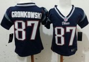 Wholesale Cheap Toddler Nike Patriots #87 Rob Gronkowski Navy Blue Team Color Stitched NFL Elite Jersey