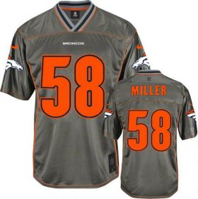 Wholesale Cheap Nike Broncos #58 Von Miller Grey Men\'s Stitched NFL Elite Vapor Jersey
