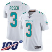 Wholesale Cheap Nike Dolphins #3 Josh Rosen White Men's Stitched NFL 100th Season Vapor Limited Jersey