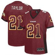 Wholesale Cheap Nike Redskins #21 Sean Taylor Burgundy Red Team Color Women's Stitched NFL Elite Drift Fashion Jersey