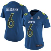 Wholesale Cheap Nike Rams #6 Johnny Hekker Navy Women's Stitched NFL Limited NFC 2017 Pro Bowl Jersey
