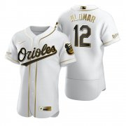 Wholesale Cheap Baltimore Orioles #12 Roberto Alomar White Nike Men's Authentic Golden Edition MLB Jersey