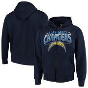 Wholesale Cheap Los Angeles Chargers G-III Sports by Carl Banks Perfect Season Full-Zip Hoodie Navy