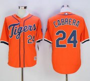 Wholesale Cheap Tigers #24 Miguel Cabrera Orange New Cool Base Stitched MLB Jersey
