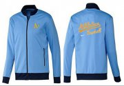 Wholesale Cheap MLB Oakland Athletics Zip Jacket Light Blue_1