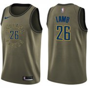 Wholesale Cheap Nike Pacers #26 Jeremy Lamb Green Salute to Service NBA Swingman Jersey