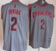 Wholesale Cheap Cleveland Cavaliers #2 Kyrie Irving Gray Static Fashion Jersey