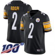 Wholesale Cheap Nike Steelers #2 Mason Rudolph Black Team Color Youth Stitched NFL 100th Season Vapor Limited Jersey