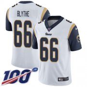Wholesale Cheap Nike Rams #66 Austin Blythe White Men's Stitched NFL 100th Season Vapor Untouchable Limited Jersey